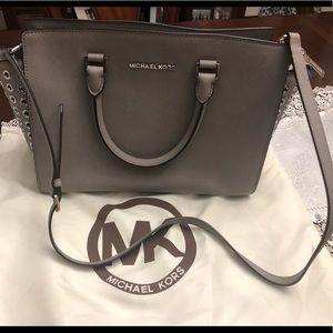 Michael Kors large Selma grommet satchel
